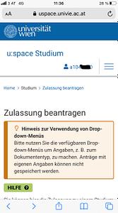 Stundenanmeldung Uni Wien